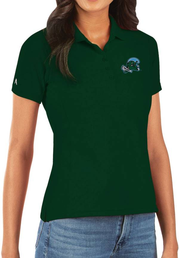 Antigua Women's Tulane Green Wave Olive Legacy Pique Polo product image