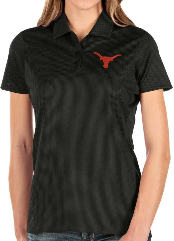 Antigua Women's Texas Longhorns Balance Black Polo product image
