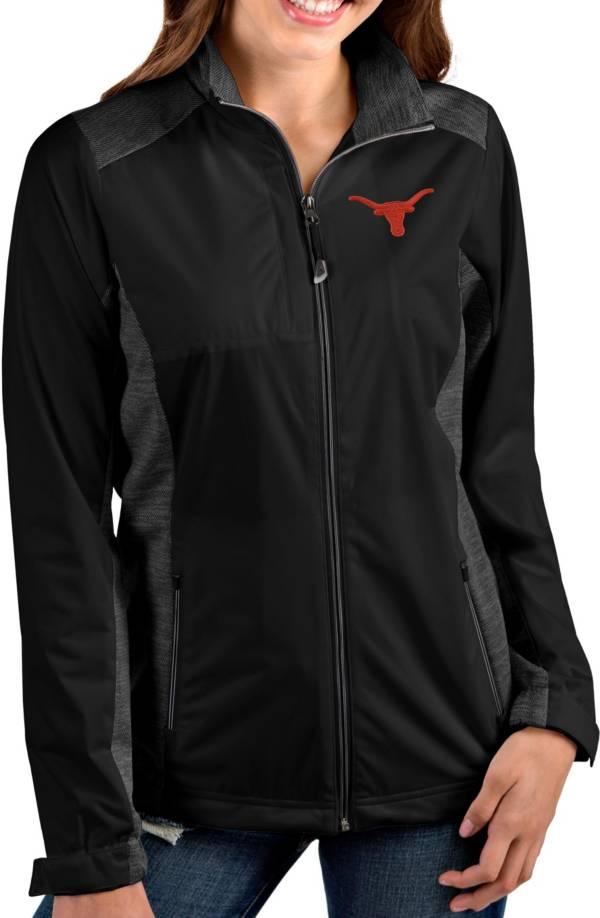 Antigua Women's Texas Longhorns Revolve Full-Zip Black Jacket product image