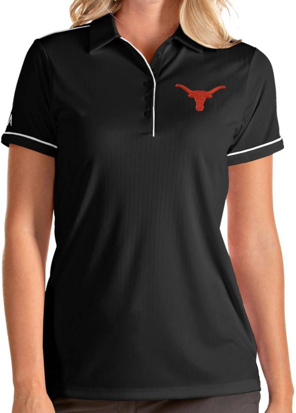 Antigua Women's Texas Longhorns Salute Performance Black Polo product image