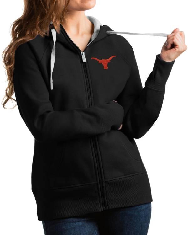 Antigua Women's Texas Longhorns Victory Full-Zip Black Hoodie product image