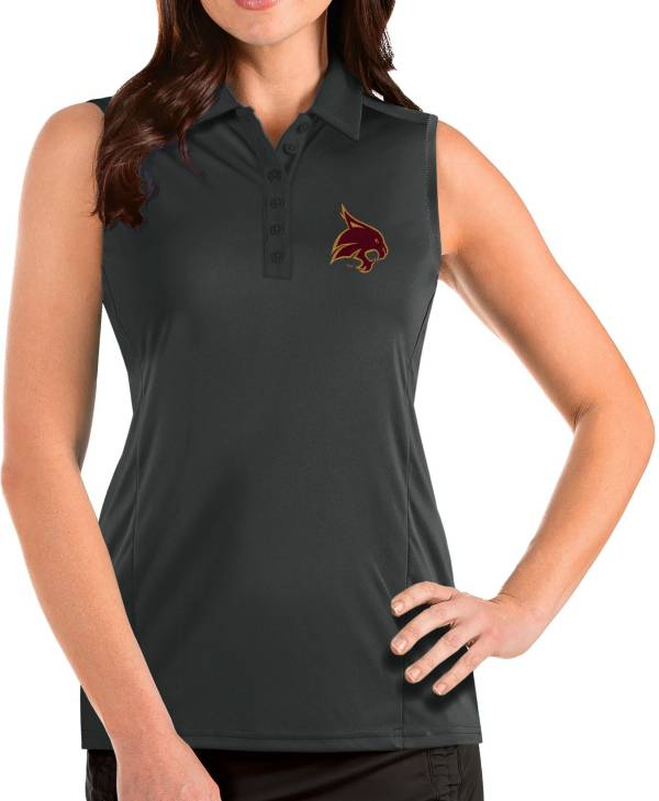Antigua Women's Texas State Bobcats Grey Tribute Sleeveless Tank Top product image