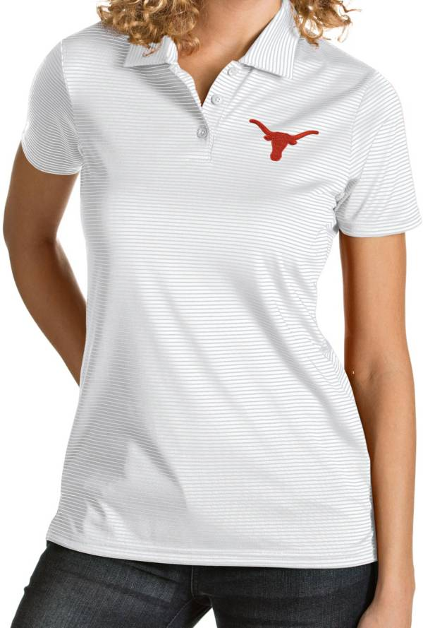 Antigua Women's Texas Longhorns Quest Performance White Polo product image