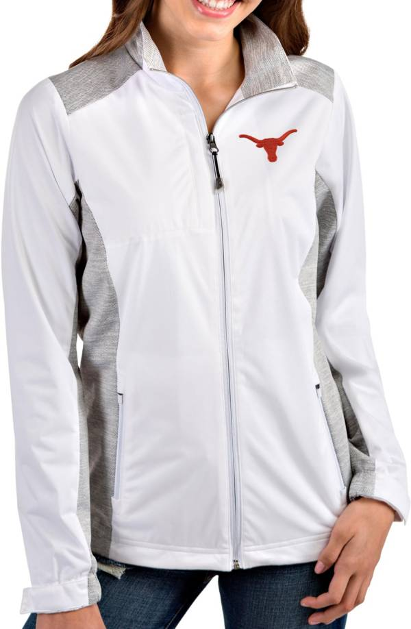 Antigua Women's Texas Longhorns Revolve Full-Zip White Jacket product image