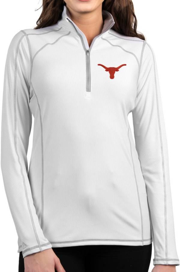 Antigua Women's Texas Longhorns Tempo Half-Zip Pullover White Shirt product image