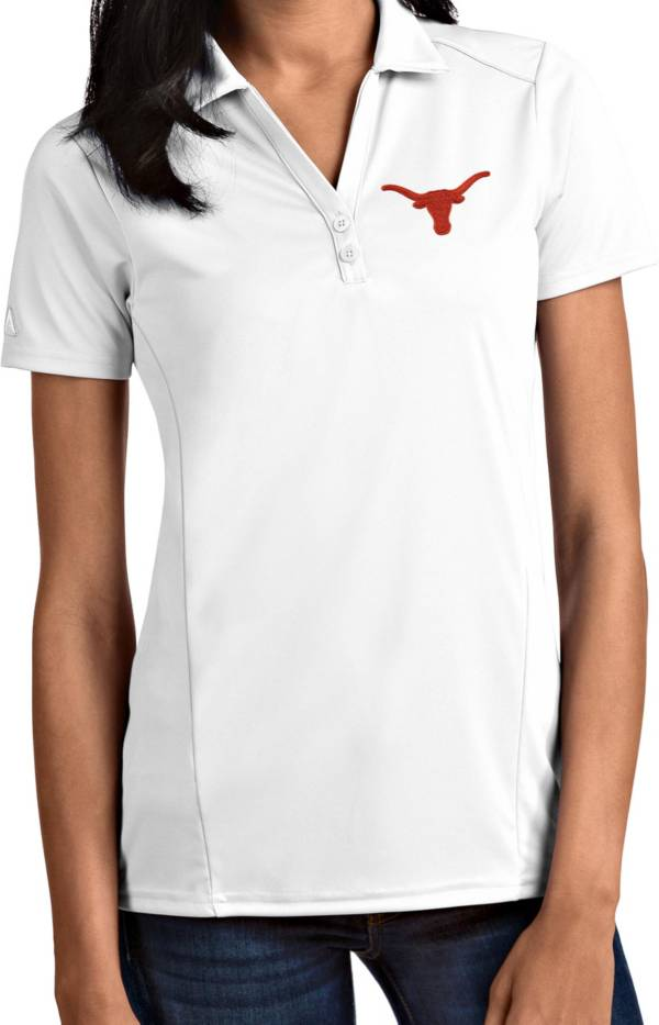 Antigua Women's Texas Longhorns Tribute Performance White Polo product image