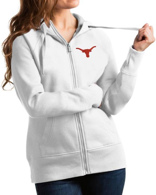 Antigua Women's Texas Longhorns Victory Full-Zip White Hoodie product image