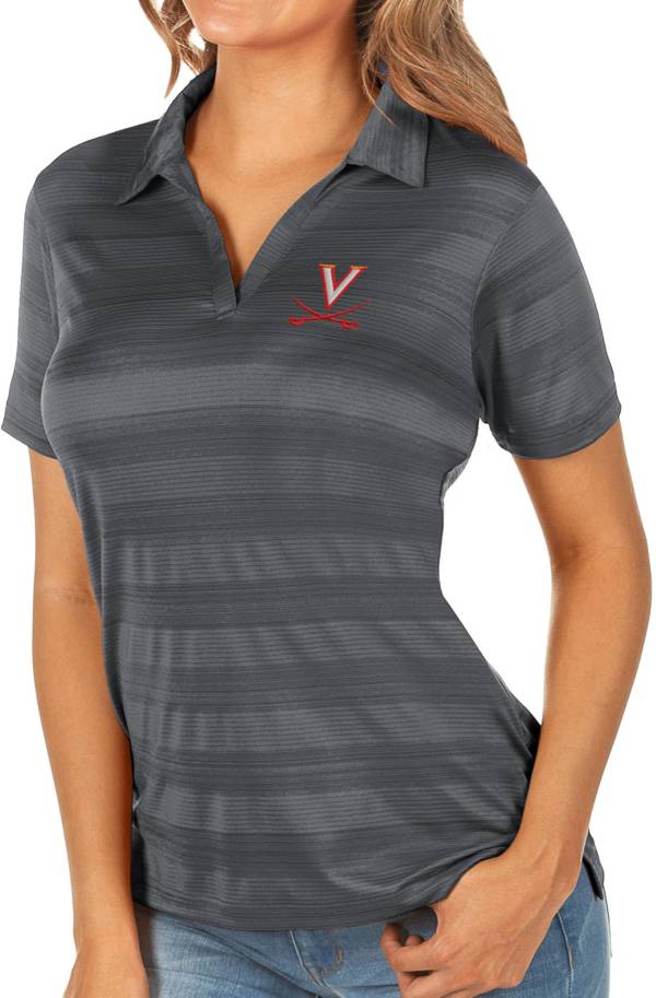 Antigua Women's Virginia Cavaliers Grey Compass Polo product image