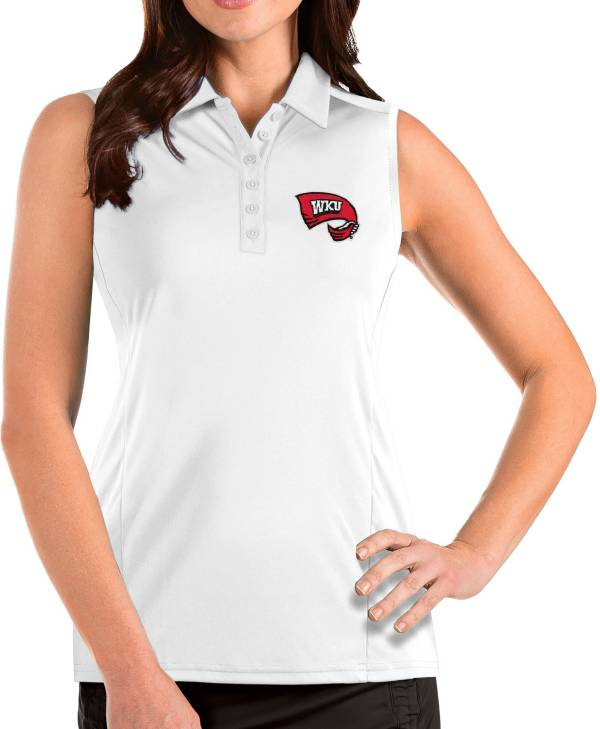 Antigua Women's Western Kentucky Hilltoppers Tribute Sleeveless Tank White Top product image