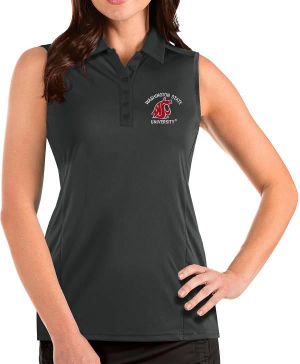 Antigua Women's Washington State Cougars Grey Tribute Sleeveless Tank Top product image