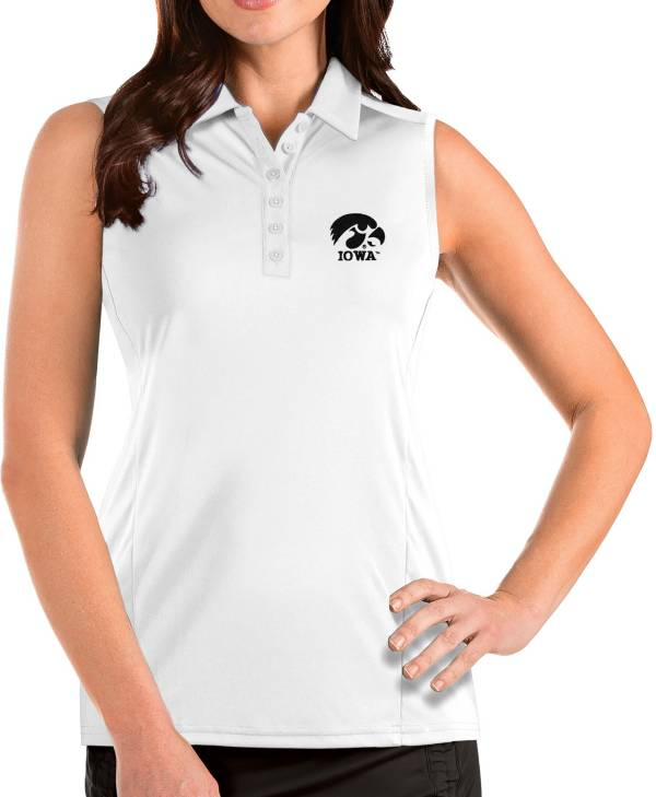 Antigua Women's Iowa Hawkeyes Tribute Sleeveless Tank White Top product image