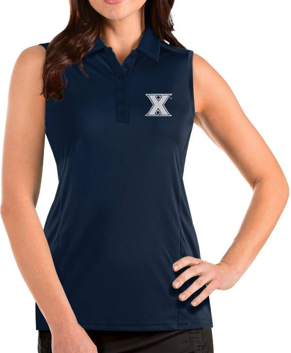 Antigua Women's Xavier Musketeers Blue Tribute Sleeveless Tank Top product image