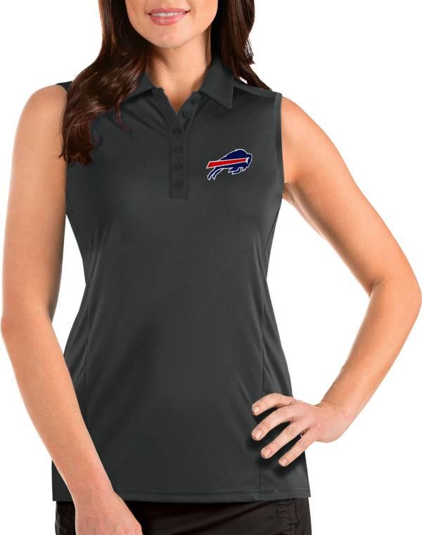 Antigua Women's Buffalo Bills Tribute Sleeveless Grey Performance Polo product image
