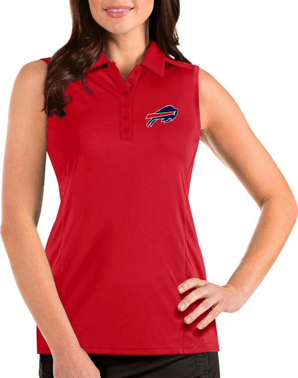 Antigua Women's Buffalo Bills Tribute Sleeveless Red Performance Polo product image