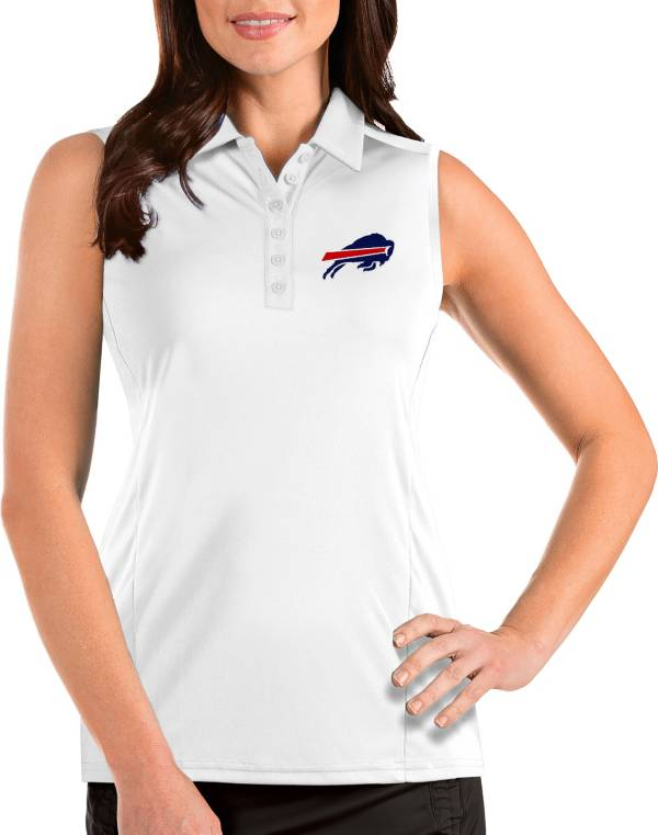 Antigua Women's Buffalo Bills Tribute Sleeveless White Performance Polo product image