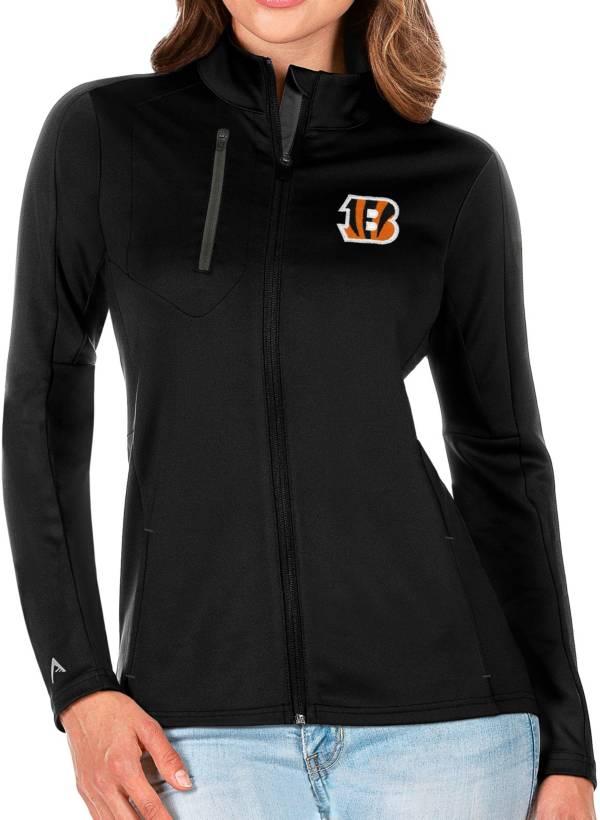 Antigua Women's Cincinnati Bengals Black Generation Full-Zip Jacket product image