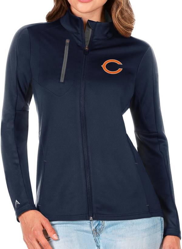 Antigua Women's Chicago Bears Navy Generation Full-Zip Jacket product image