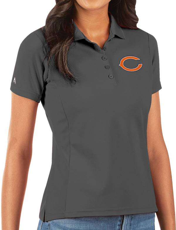 Antigua Women's Chicago Bears Grey Legacy Pique Polo product image