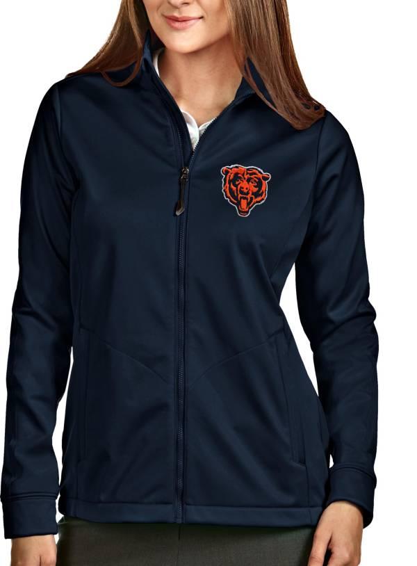 Antigua Women's Chicago Bears Navy Full-Zip Golf Jacket product image