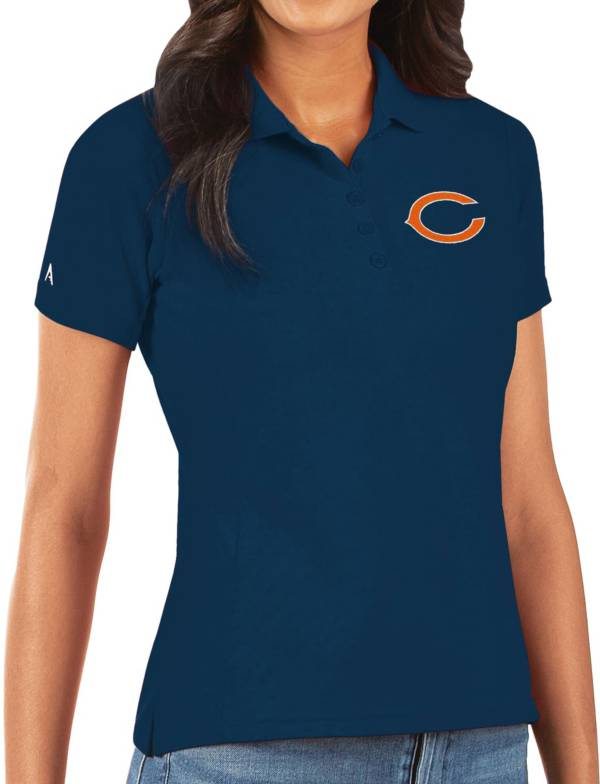 Antigua Women's Chicago Bears Navy Legacy Pique Polo product image