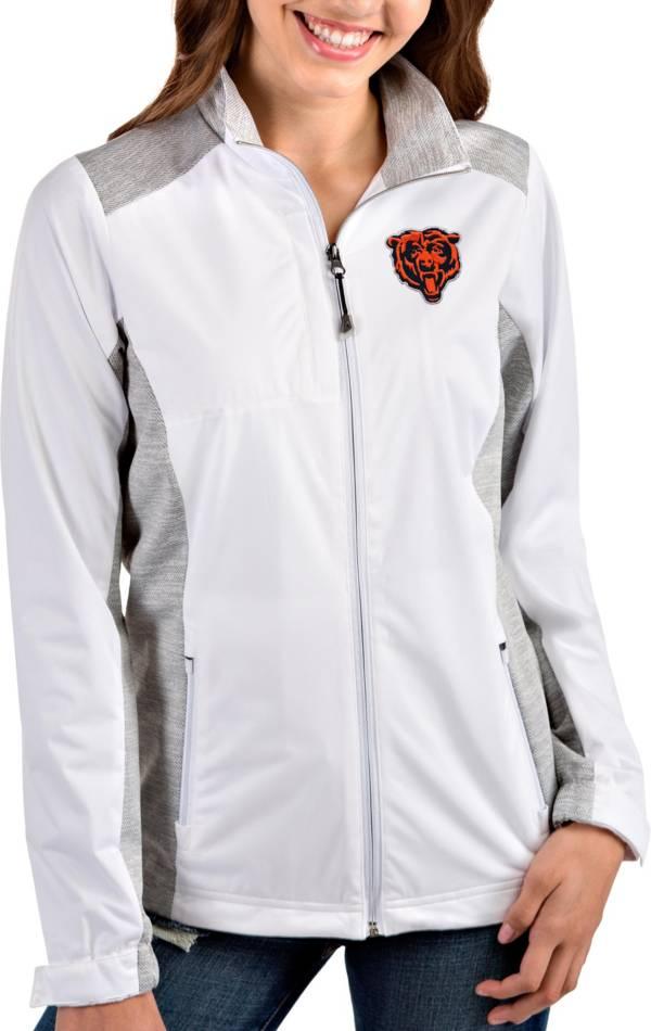 Antigua Women's Chicago Bears White Revolve Full-Zip Jacket product image