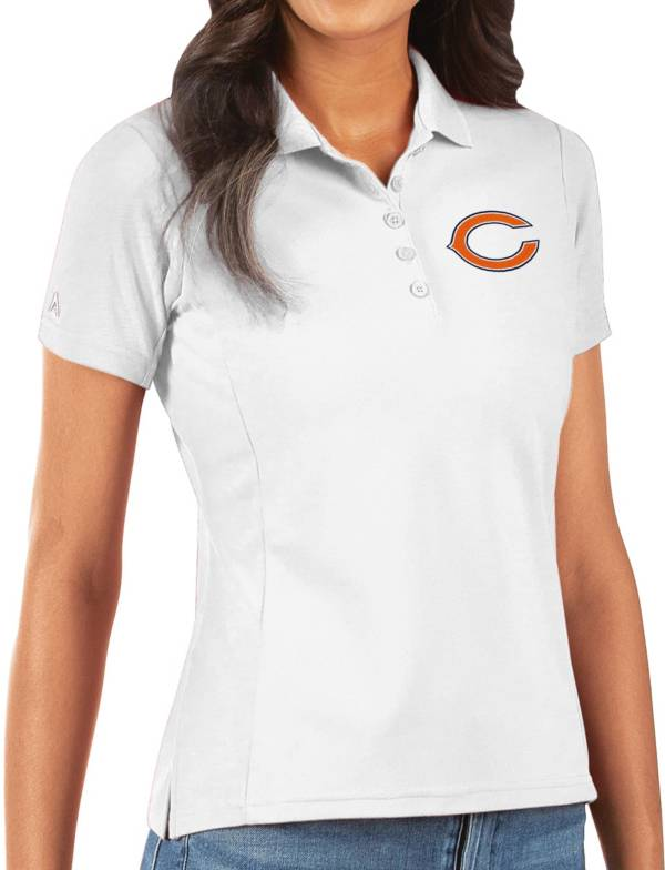 Antigua Women's Chicago Bears White Legacy Pique Polo product image