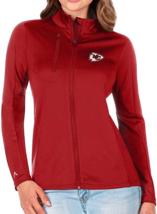 Antigua Women's Kansas City Chiefs Red Generation Full-Zip Jacket product image