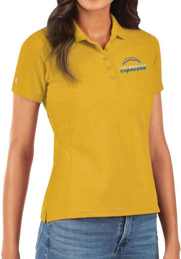 Antigua Women's Los Angeles Chargers Gold Legacy Pique Polo product image