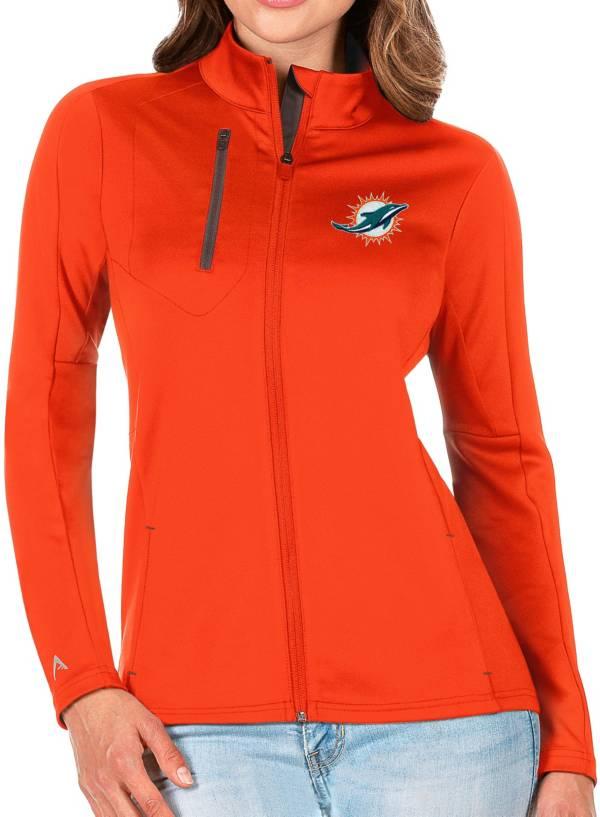 Antigua Women's Miami Dolphins Orange Generation Full-Zip Jacket product image