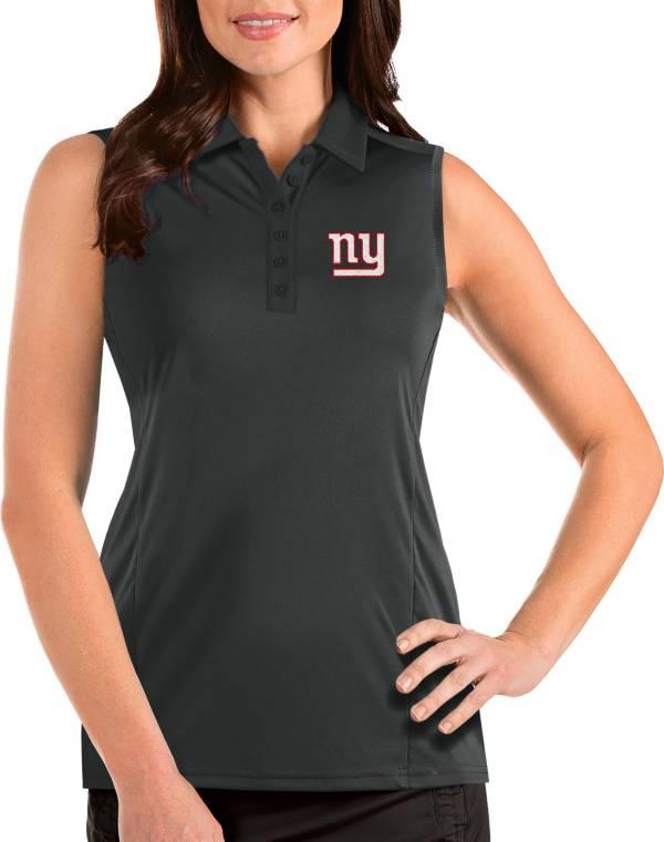 Antigua Women's New York Giants Tribute Sleeveless Grey Performance Polo product image