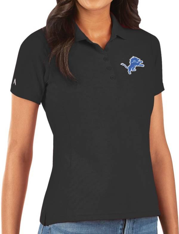 Antigua Women's Detroit Lions Black Legacy Pique Polo product image