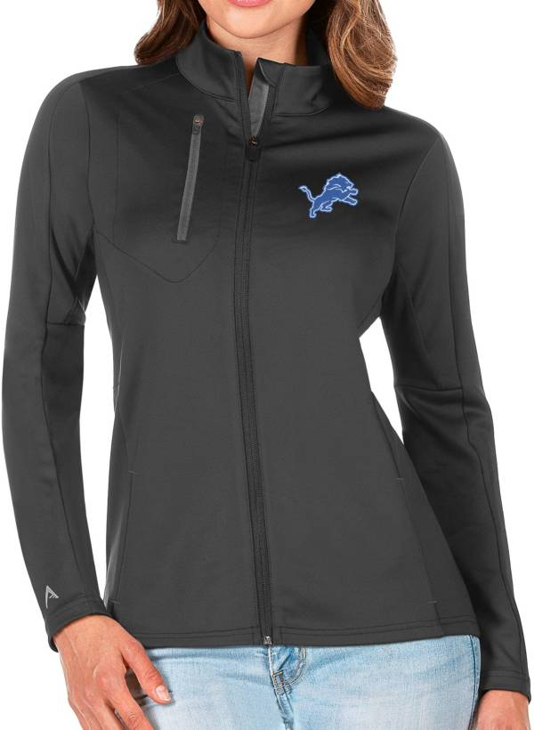 Antigua Women's Detroit Lions Grey Generation Full-Zip Jacket product image