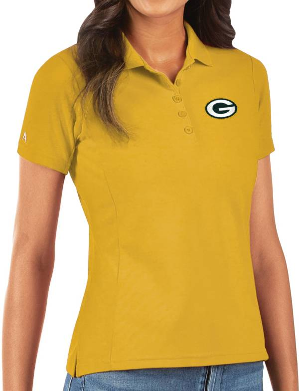 Antigua Women's Green Bay Packers Gold Legacy Pique Polo product image