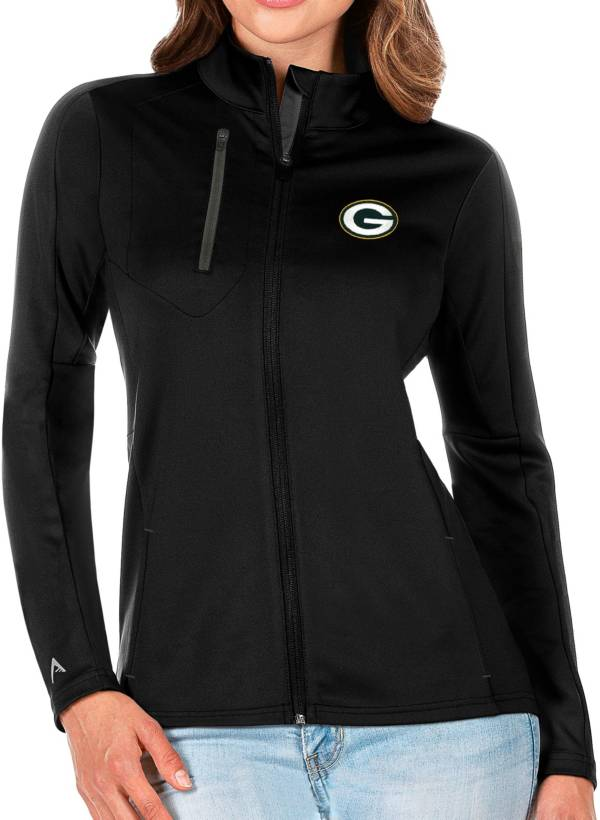 Antigua Women's Green Bay Packers Black Generation Full-Zip Jacket product image
