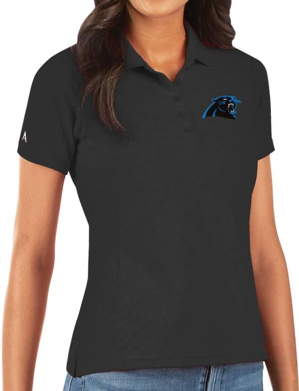 Antigua Women's Carolina Panthers Black Legacy Pique Polo product image
