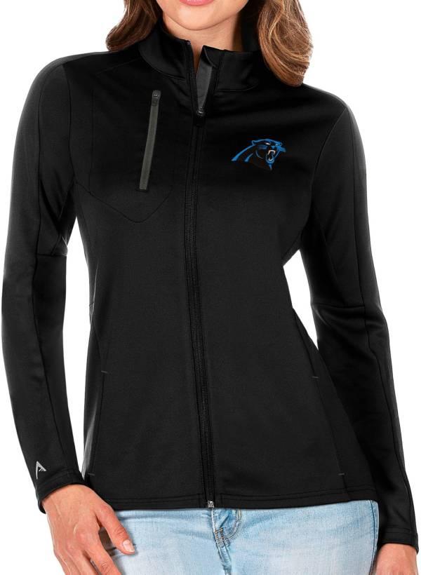 Antigua Women's Carolina Panthers Black Generation Full-Zip Jacket product image