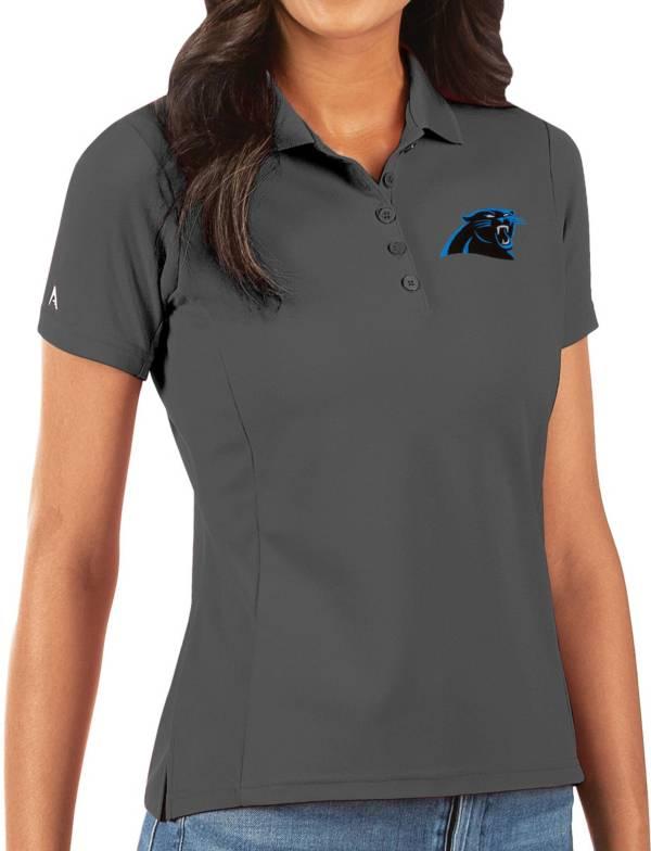 Antigua Women's Carolina Panthers Grey Legacy Pique Polo product image