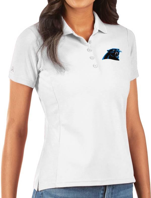 Antigua Women's Carolina Panthers White Legacy Pique Polo product image