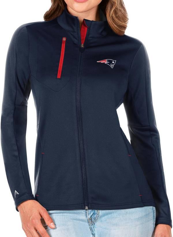 Antigua Women's New England Patriots Navy Generation Full-Zip Jacket product image