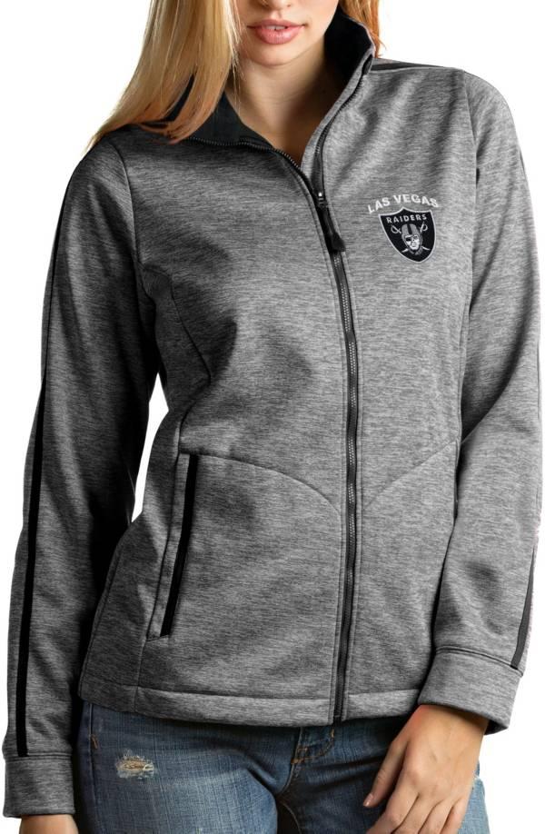 Antigua Women's Las Vegas Raiders Black Full-Zip Golf Jacket product image