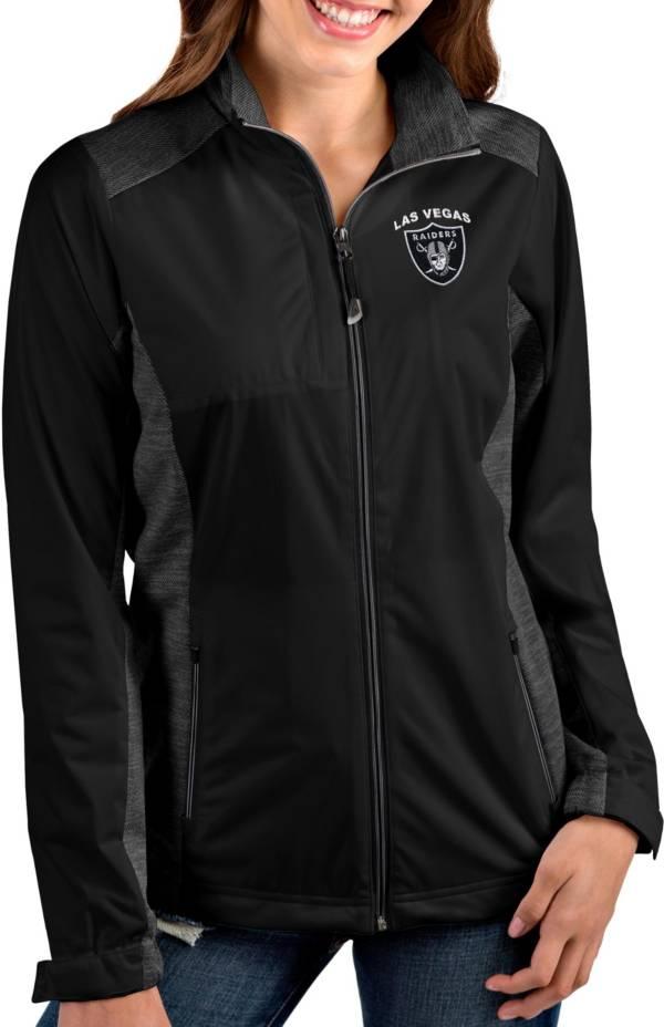Antigua Women's Las Vegas Raiders Revolve Black Full-Zip Jacket product image