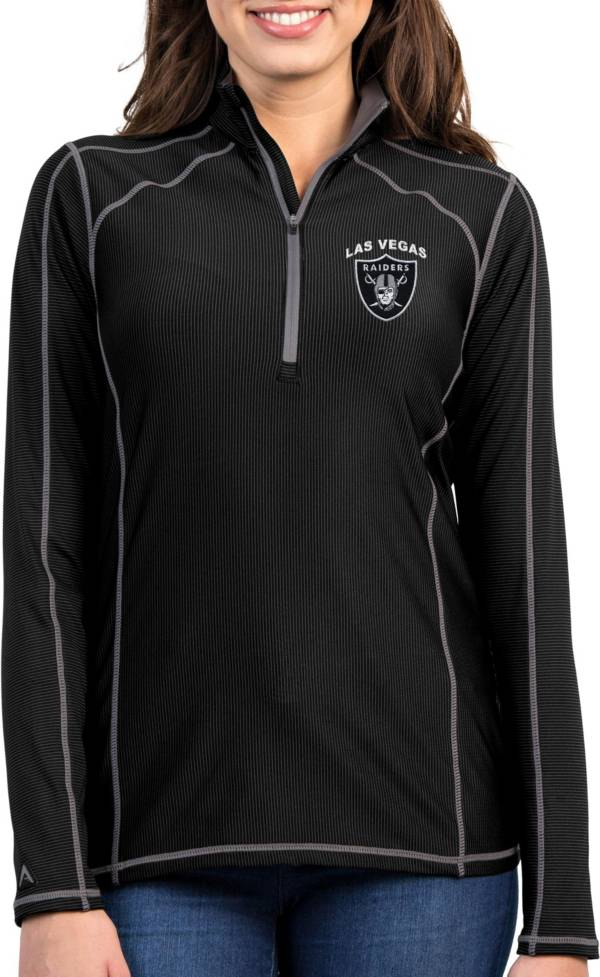 Antigua Women's Las Vegas Raiders Tempo Black Quarter-Zip Pullover product image
