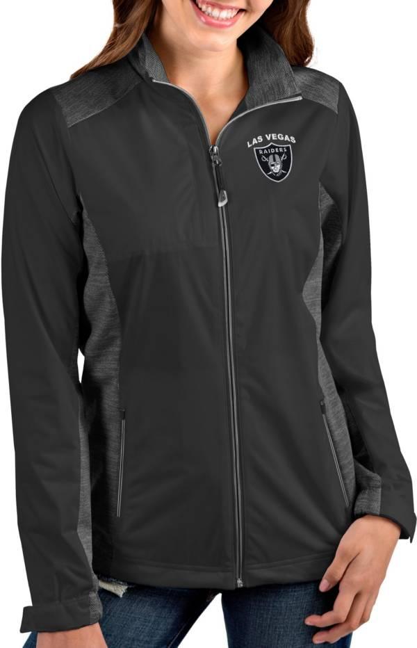 Antigua Women's Las Vegas Raiders Revolve Charcoal Full-Zip Jacket product image