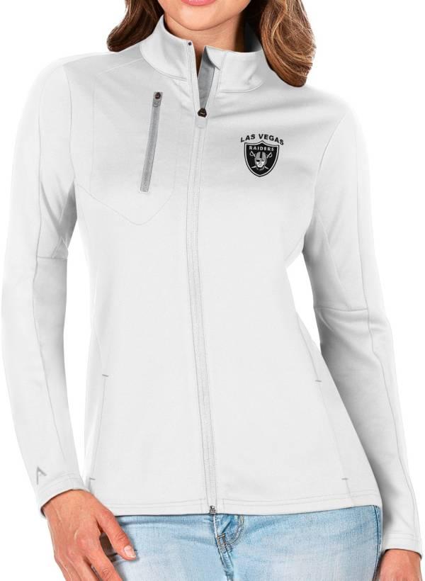 Antigua Women's Las Vegas Raiders White Generation Full-Zip Jacket product image