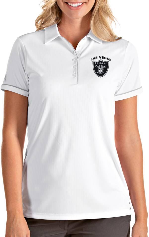 Antigua Women's Las Vegas Raiders Salute White Polo product image