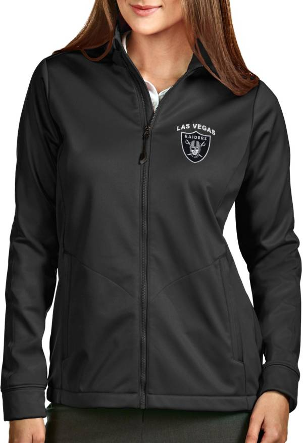 Antigua Women's Las Vegas Raiders Smoke Full-Zip Golf Jacket product image