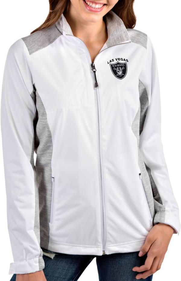 Antigua Women's Las Vegas Raiders Revolve White Full-Zip Jacket product image