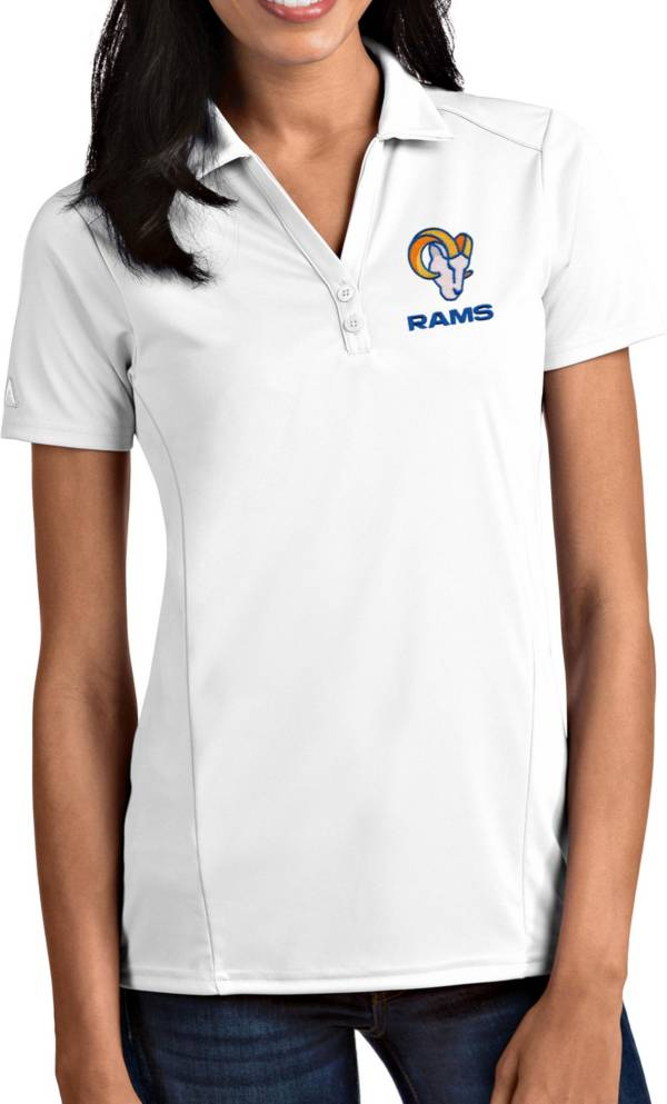Antigua Women's Los Angeles Rams White Tribute Performance Polo product image