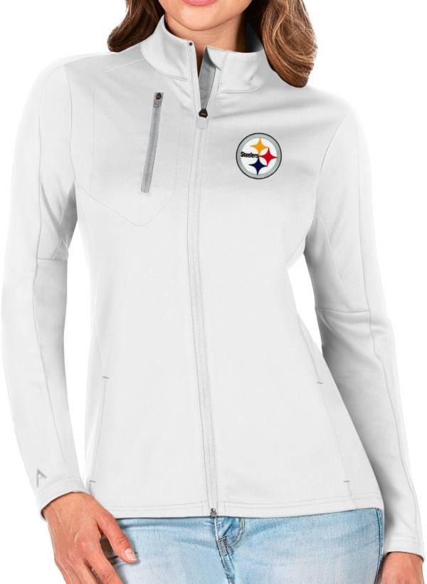 Antigua Women's Pittsburgh Steelers White Generation Full-Zip Jacket product image