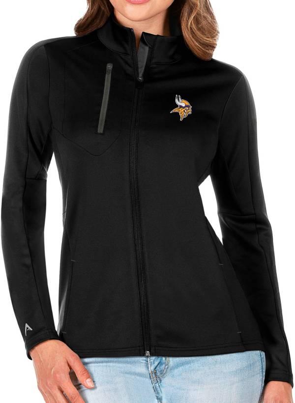 Antigua Women's Minnesota Vikings Black Generation Full-Zip Jacket product image
